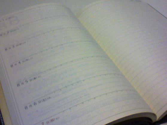 2011年度手帳