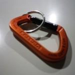 バーテックス(VERTEX) カラビナ フラット 5mm 橙/黒