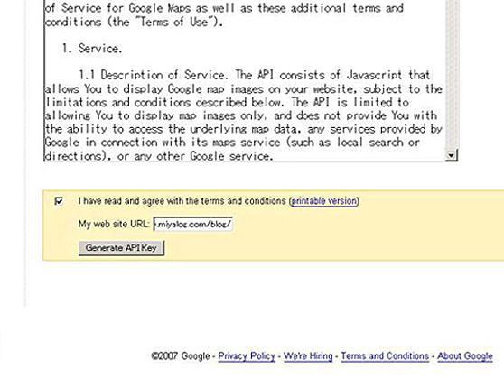 Google Maps API Sign Up