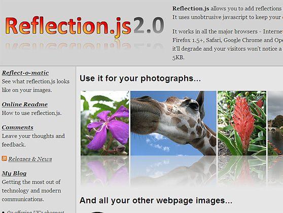 Reflection.js 2.0