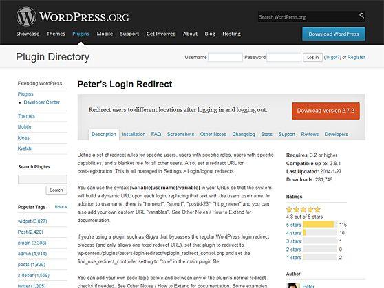 Peter's Login Redirect